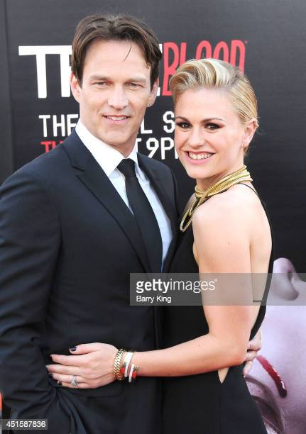 Actor Stephen Moyer and actress Anna Paquin arrive at HBO's 'True Blood' Final Season Premiere on June 17 2014 at TCL Chinese Theatre in Hollywood...
