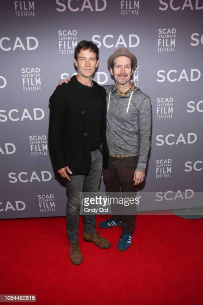 Actor Stephen Moyer and Denis O'Hare attend the 21st SCAD Savannah Film Festival opening night on October 27, 2018 in Savannah, Georgia.
