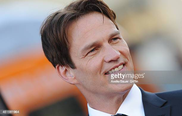 Actor Stephen Moyer arrives at HBO's 'True Blood' Final Season Premiere at TCL Chinese Theatre on June 17, 2014 in Hollywood, California.
