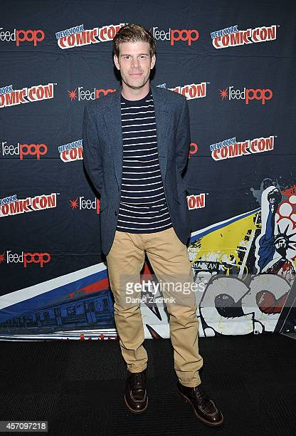 Actor Stephen Rannazzisi attends The League press room at 2014 New York Comic Con Day 3 at Jacob Javitz Center on October 11 2014 in New York City