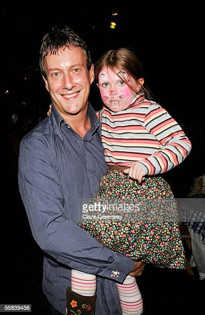 Actor Stephen Tompkinson and his daughter Daisy attend the aftershow party following the UK Charity premiere of animated film Wallace Gromit The...