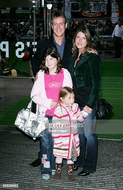 Actor Stephen Tompkinson his wife Nicky and their daughter Polly and neice Daisy arrive at the UK Charity premiere of animated film Wallace Gromit...