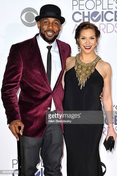 Actor Stephen Twitch Boss and dancer Allison Holker arrive at the People's Choice Awards 2016 at Microsoft Theater on January 6 2016 in Los Angeles...