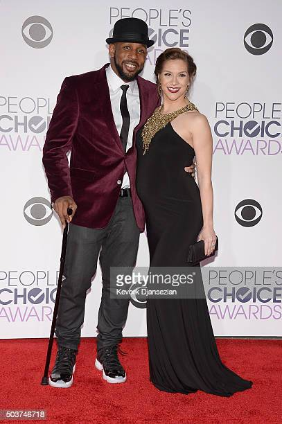 Actor Stephen 'Twitch' Boss and dancer Allison Holker attend the People's Choice Awards 2016 at Microsoft Theater on January 6 2016 in Los Angeles...