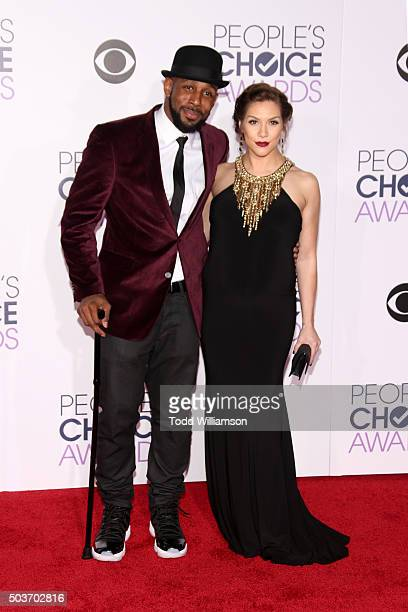 Actor Stephen 'Twitch' Boss and wife dancer Allison Holker attend the People's Choice Awards 2016 at Microsoft Theater on January 6, 2016 in Los...