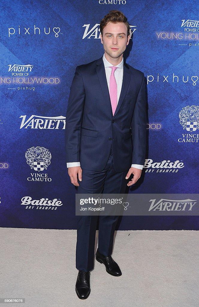 Actor Sterling Beaumon arrives at Variety's Power Of Young Hollywood at NeueHouse Hollywood on August 16, 2016 in Los Angeles, California.