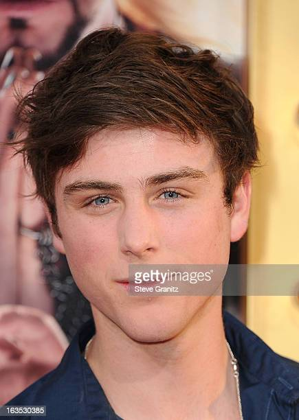 Actor Sterling Beaumon attends 'The Incredible Burt Wonderstone' Los Angeles Premiere at TCL Chinese Theatre on March 11 2013 in Hollywood California