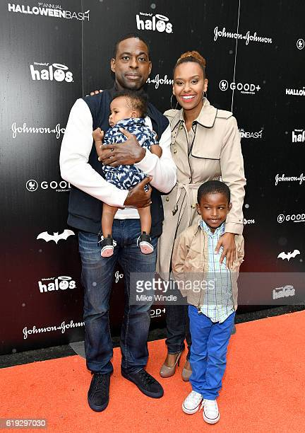 Actor Sterling K Brown actress Ryan Michelle Bathe and family attend the FirstEver GOOD Foundation Halloween Bash hosted Jessica Seinfeld at Sunset...