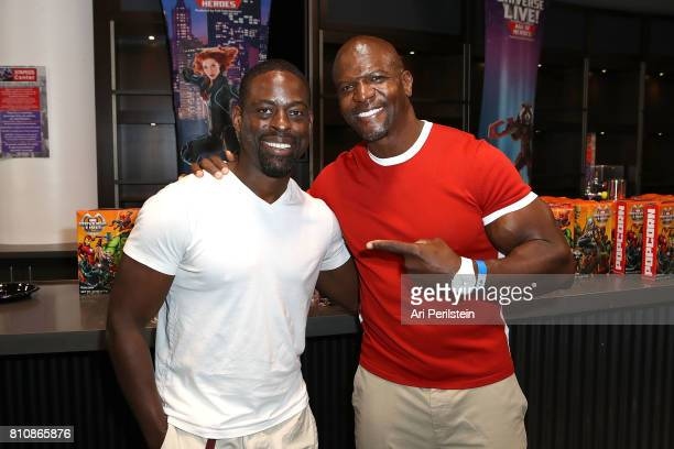 Actor Sterling K Brown and Actor Terry Crews attend the Marvel Universe LIVE Age Of Heroes World Premiere Celebrity Red Carpet Event at Staples...