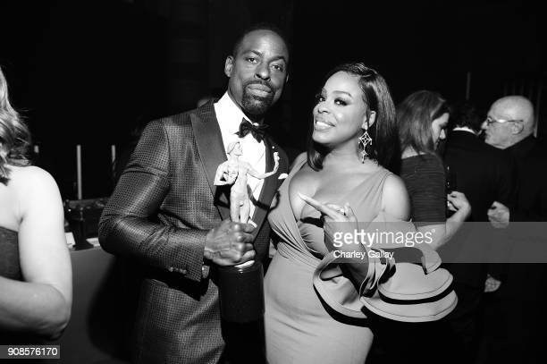 Actor Sterling K Brown and Niecy Nashattend People and EIF's Annual Screen Actors Guild Awards Gala sponsored by TNT and L'Oreal Paris at The Shrine...