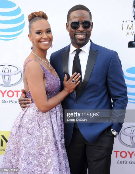 Actor Sterling K Brown and Ryan Michelle Bathe arrive at the 48th NAACP Image Awards at Pasadena Civic Auditorium on February 11 2017 in Pasadena...