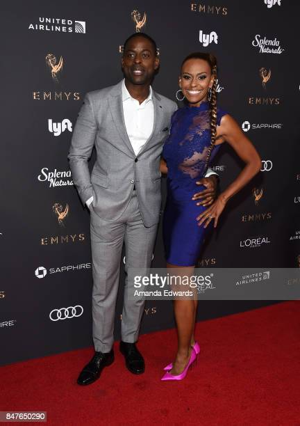 Actor Sterling K Brown and Ryan Michelle Bathe arrive at the Television Academy's Performers Nominee Reception at the Wallis Annenberg Center for the...