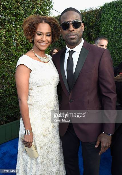 Actor Sterling K Brown and Ryan Michelle Bathe attend The 22nd Annual Critics' Choice Awards at Barker Hangar on December 11 2016 in Santa Monica...