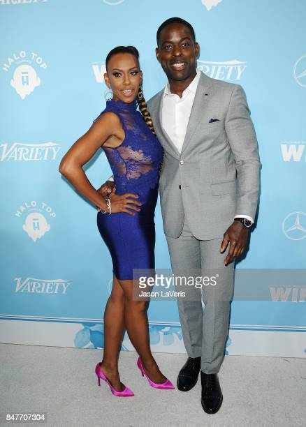 Actor Sterling K Brown and Ryan Michelle Bathe attend Variety and Women In Film's 2017 preEmmy celebration at Gracias Madre on September 15 2017 in...