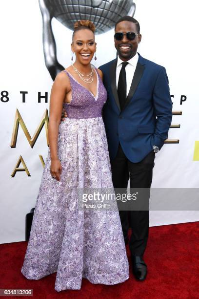 Actor Sterling K Brown and Ryan Michelle Bathe attendRyan Michelle Bathe the 48th NAACP Image Awards at Pasadena Civic Auditorium on February 11 2017...