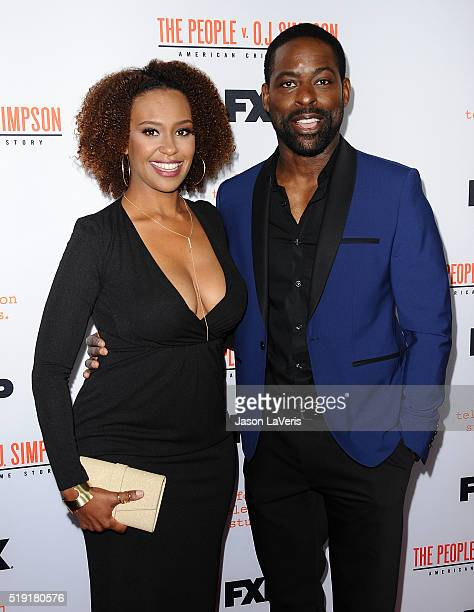 Actor Sterling K Brown and wife Ryan Michelle Bathe attend the For Your Consideration event for FX's The People v OJ Simpson American Crime Story at...