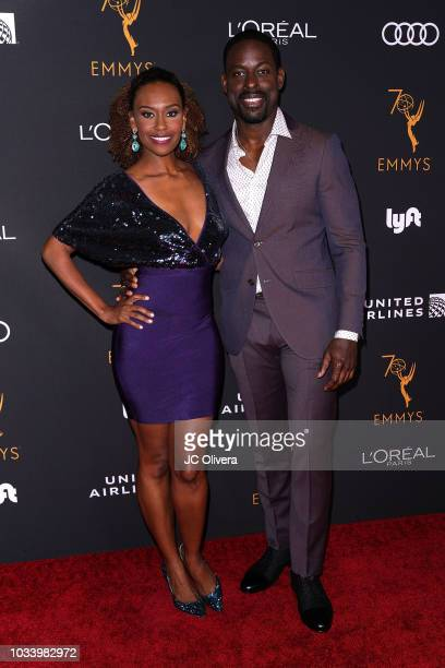 Actor Sterling K Brown and wife Ryan Michelle Bathe attend the Television Academy Honors Emmy Nominated Performers at Wallis Annenberg Center for the...