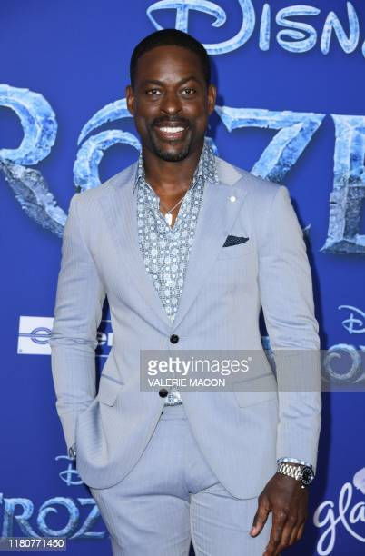 US actor Sterling K Brown arrives for Disney's World Premiere of Frozen 2 at the Dolby theatre in Hollywood on November 7 2019