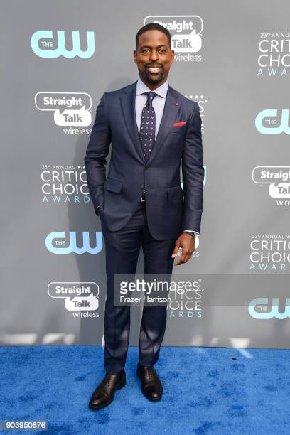 Actor Sterling K Brown attends The 23rd Annual Critics' Choice Awards at Barker Hangar on January 11 2018 in Santa Monica California