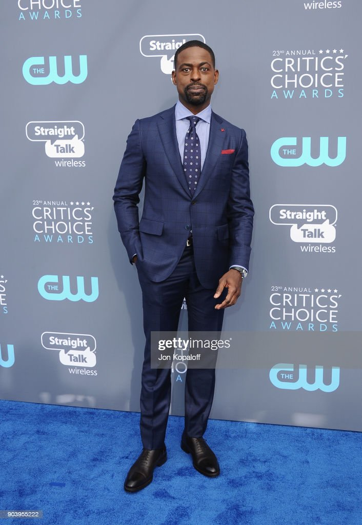 Actor Sterling K. Brown attends The 23rd Annual Critics' Choice Awards at Barker Hangar on January 11, 2018 in Santa Monica, California.