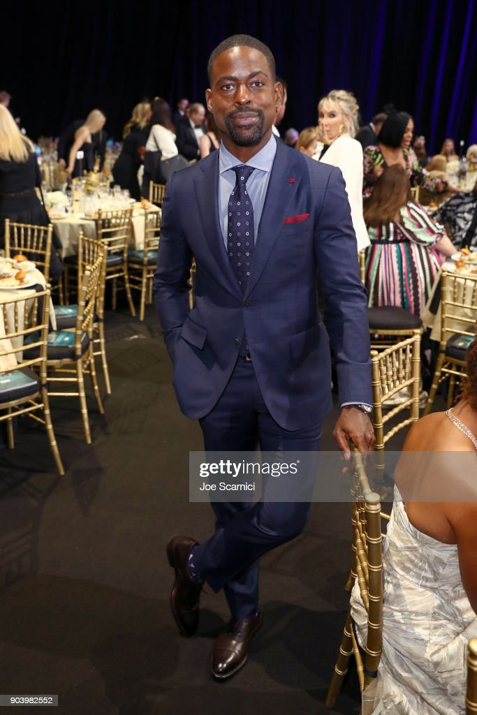 Actor Sterling K. Brown attends the 23rd Annual Critics' Choice Awards on January 11, 2018 in Santa Monica, California.
