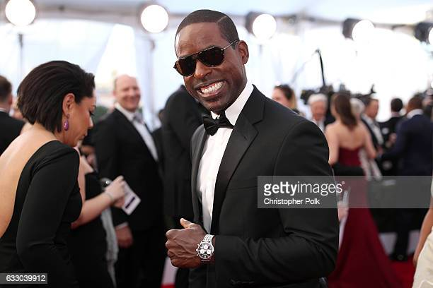 Actor Sterling K Brown attends The 23rd Annual Screen Actors Guild Awards at The Shrine Auditorium on January 29 2017 in Los Angeles California...