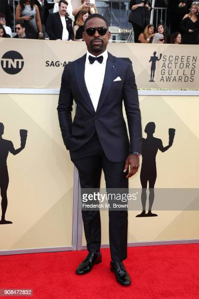 Actor Sterling K Brown attends the 24th Annual Screen Actors Guild Awards at The Shrine Auditorium on January 21 2018 in Los Angeles California...