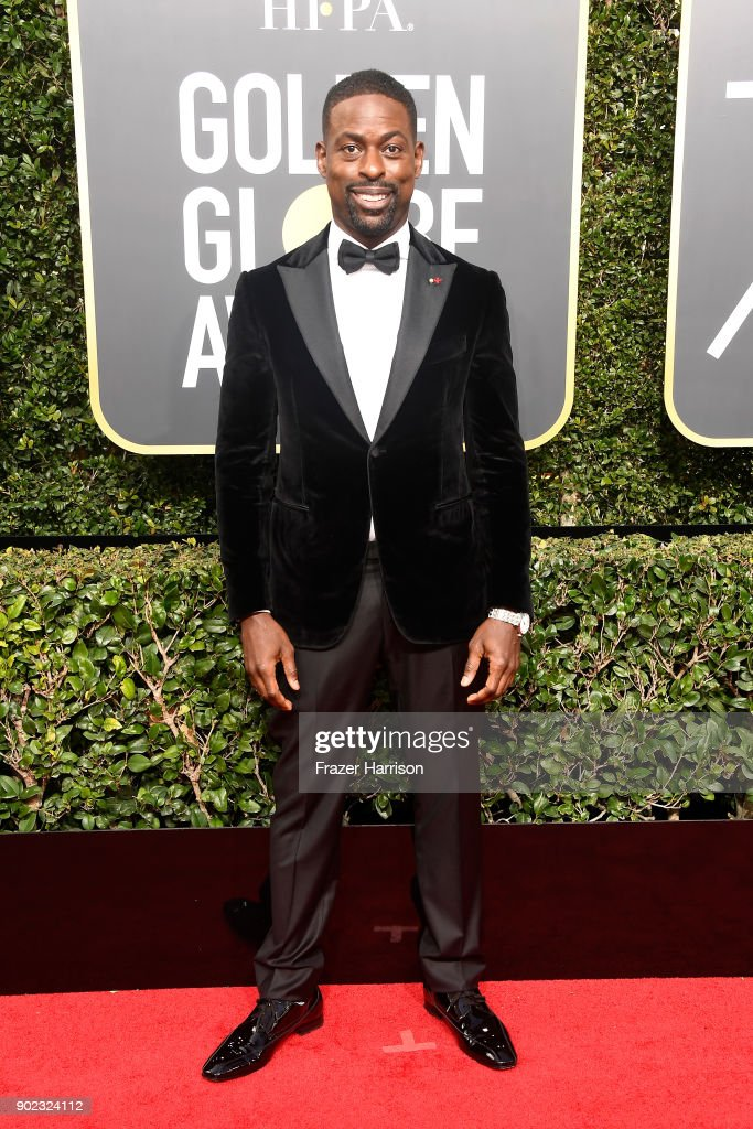 Actor Sterling K. Brown attends The 75th Annual Golden Globe Awards at The Beverly Hilton Hotel on January 7, 2018 in Beverly Hills, California.