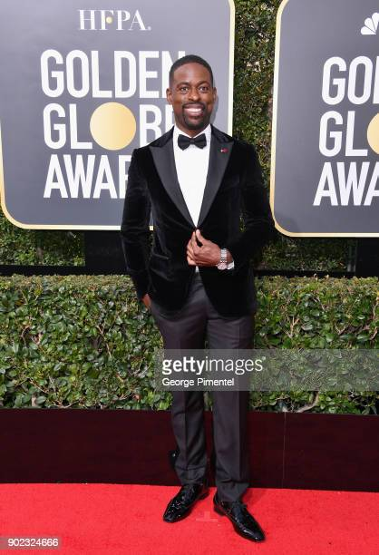 Actor Sterling K Brown attends The 75th Annual Golden Globe Awards at The Beverly Hilton Hotel on January 7 2018 in Beverly Hills California