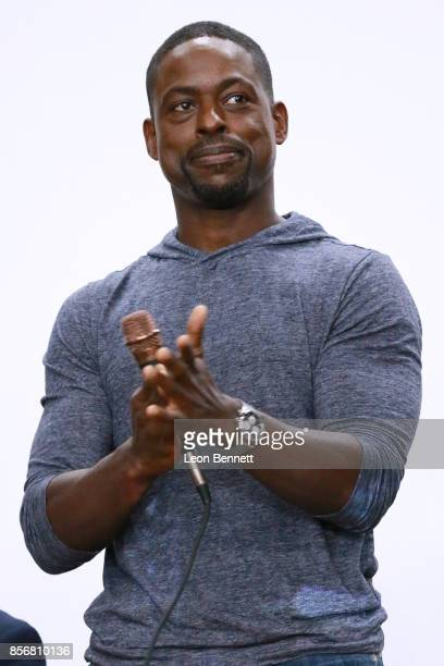Actor Sterling K Brown attends the Compton High School Student Screening Of Open Road Films' Marshall at Compton High School on October 2 2017 in...