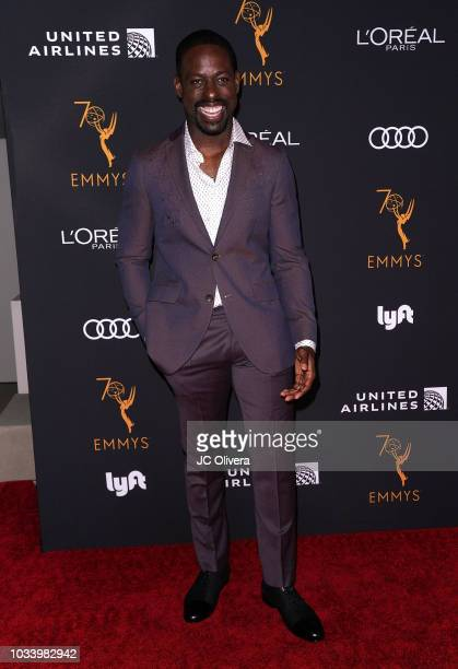 Actor Sterling K Brown attends the Television Academy Honors Emmy Nominated Performers at Wallis Annenberg Center for the Performing Arts on...