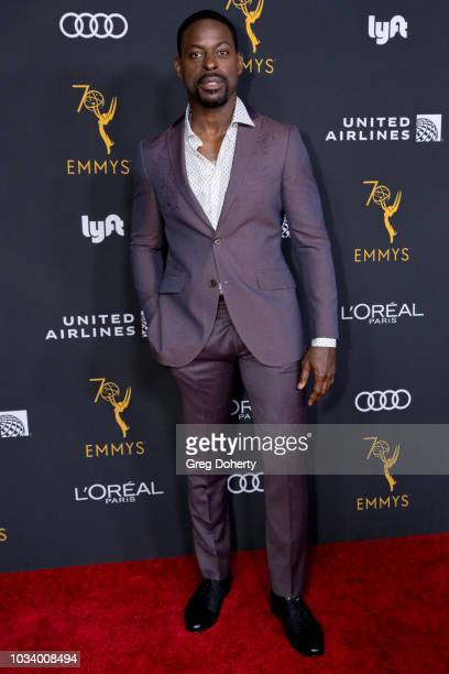 Actor Sterling K Brown attends the Television Academy Honors Emmy Nominated Performers Reception at Wallis Annenberg Center for the Performing Arts...