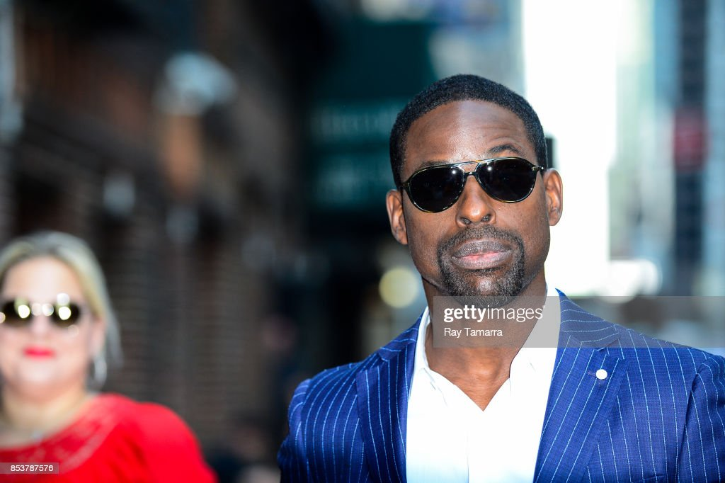 Actor Sterling K. Brown enters the 'The Late Show With Stephen Colbert' taping at the Ed Sullivan Theater on September 25, 2017 in New York City.