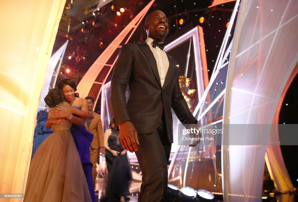 Actor Sterling K. Brown onstage during the 24th Annual Screen Actors Guild Awards at The Shrine Auditorium on January 21, 2018 in Los Angeles, California. 27522_010
