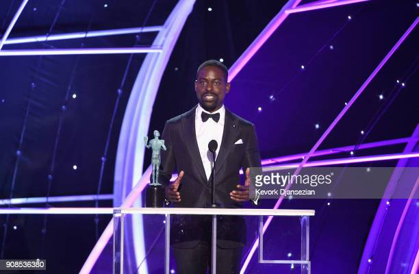 Actor Sterling K Brown onstage during the 24th Annual Screen ActorsGuild Awards at The Shrine Auditorium on January 21 2018 in Los Angeles California