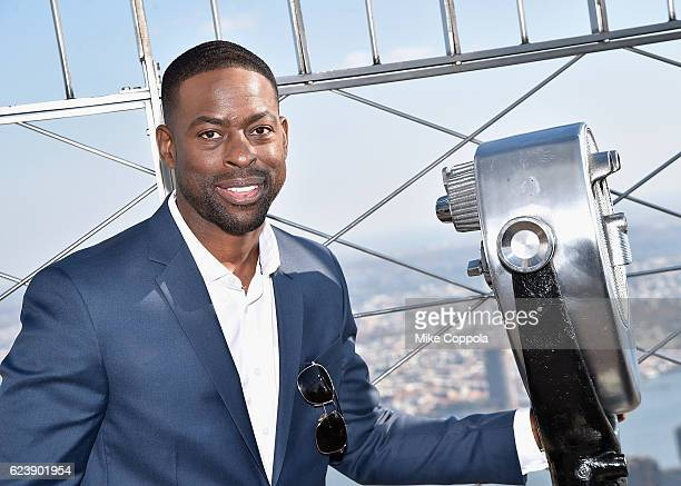 Actor Sterling K Brown Visits The Empire State Building at The Empire State Building on November 17 2016 in New York City