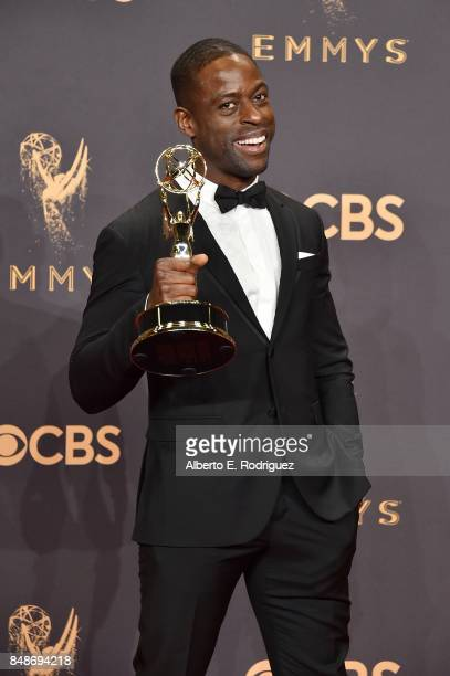 Actor Sterling K. Brown, winner of Outstanding Lead Actor in a Drama Series for 'This Is Us', poses in the press room during the 69th Annual...