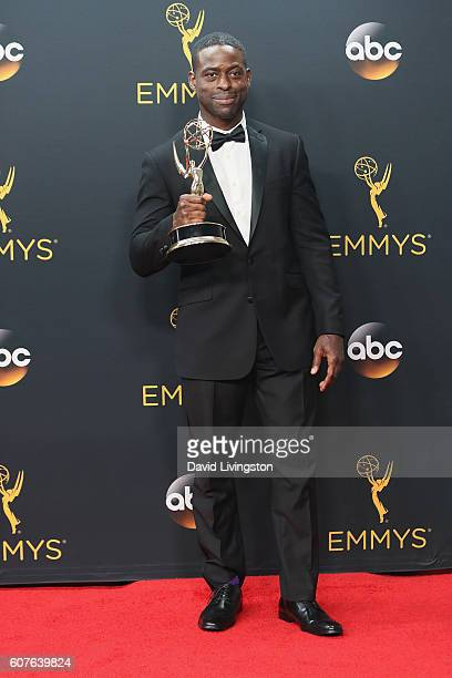 Actor Sterling K Brown winner of the Outstanding Supporting Actor in a Limited Series or Movie for 'The People vs OJ Simpson American Crime Story'...