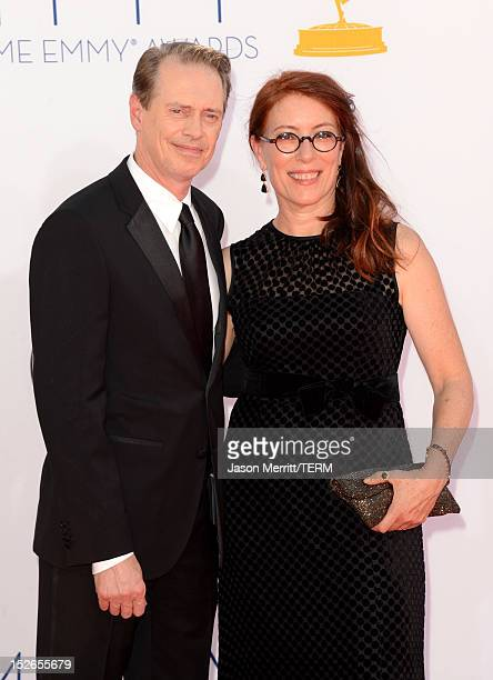 Actor Steve Buscemi and director Jo Andres arrive at the 64th Primetime Emmy Awards at Nokia Theatre LA Live on September 23 2012 in Los Angeles...