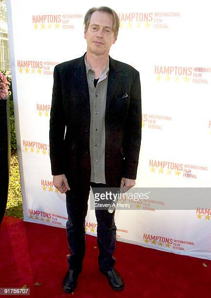 """Actor Steve Buscemi attends """"A Conversation With"""" during the 17th annual Hamptons International Film Festival at the Guild Hall on October 11, 2009..."""