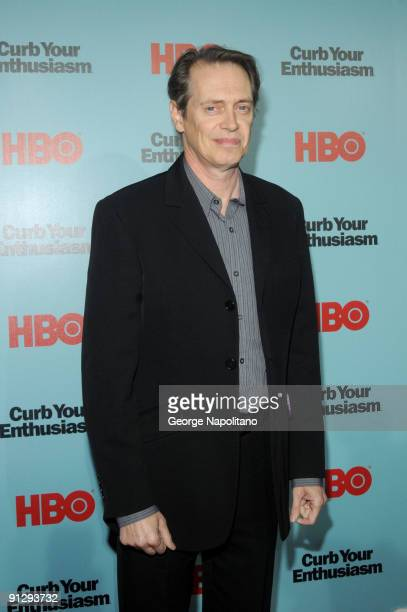 Actor Steve Buscemi attends Curb Your Enthusiasm Season 7 New York screening at the Time Warner Screening Room on September 30 2009 in New York City