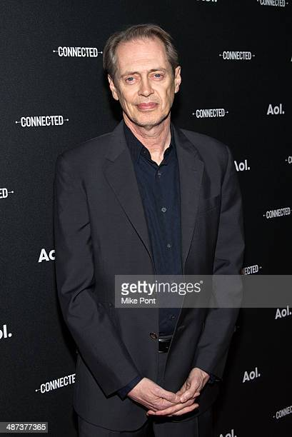 Actor Steve Buscemi attends the 2014 AOL Digital Content NewFronts at the Duggal Greenhouse on April 29 2014 in the Brooklyn borough of New York City