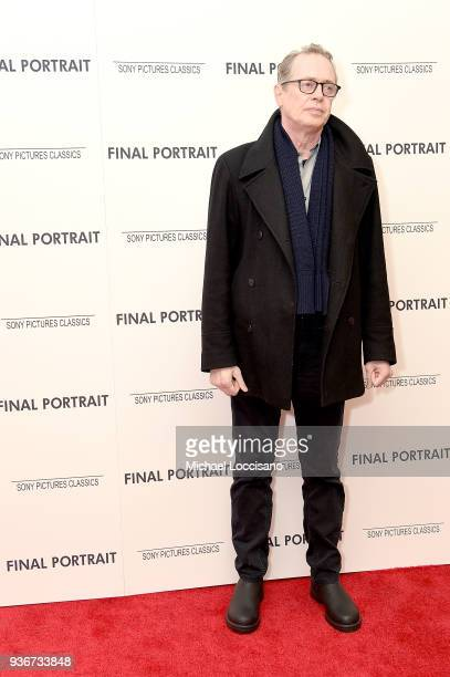 Actor Steve Buscemi attends the 'Final Portrait' New York Screening at Guggenheim Museum on March 22, 2018 in New York City.