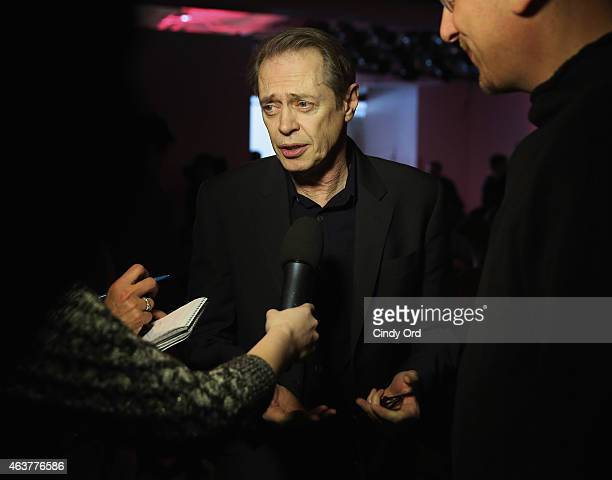 Actor Steve Buscemi attends the Nanette Lepore fashion show at Pop14 during MercedesBenz Fashion Week Fall 2015 on February 18 2015 in New York City