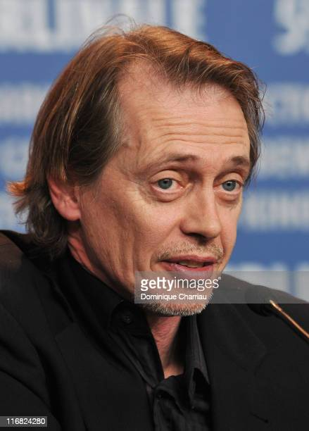 """Actor Steve Buscemi attends the """"Rage"""" press conference during the 59th Berlin International Film Festival at the Grand Hyatt Hotel on February 8,..."""