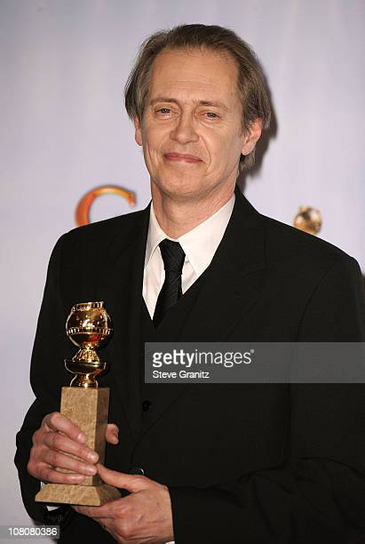 Actor Steve Buscemi poses in the press room at the 68th Annual Golden Globe Awards held at The Beverly Hilton hotel on January 16 2011 in Beverly...