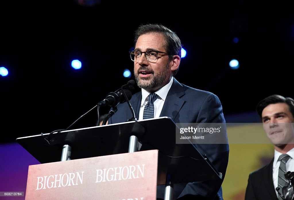 Actor Steve Carell accepts the Ensemble Performance Award for 'The Big Short' onstage at the 27th Annual Palm Springs International Film Festival Awards Gala at Palm Springs Convention Center on January 2, 2016 in Palm Springs, California.