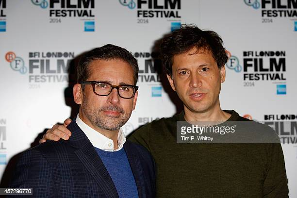 Actor Steve Carell and Director Bennett Miller attend the photocall for 'Foxcatcher' during the 58th BFI London Film Festival at The Corinthia Hotel...