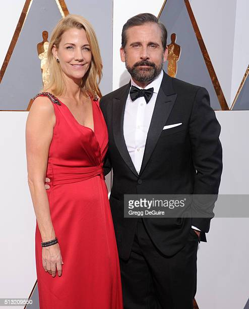 Actor Steve Carell and Nancy Carell arrive at the 88th Annual Academy Awards at Hollywood Highland Center on February 28 2016 in Hollywood California