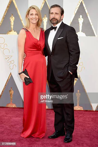 Actor Steve Carell and Nancy Carell attend the 88th Annual Academy Awards at Hollywood Highland Center on February 28 2016 in Hollywood California